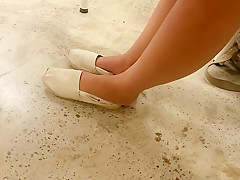 Our Exgf Adorable Toes In Toms With Heels - Honest