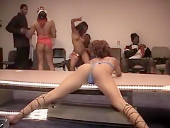 Ass Stripper Showing Her Pussy