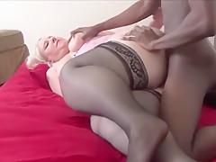 Chunky Blonde Wife Cheating On Her Husband