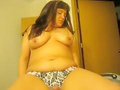 Fat Wife Using His Dick Hard