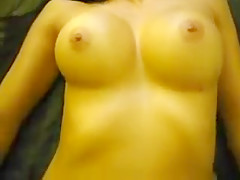 Busty Brunette Rides Before Displaying Her Magnificent Brea
