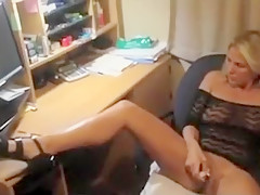 While Viewing My Cumshot Commitment On S She Masturbates