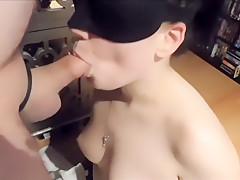 Blowing His Cock While Being Blindfolded