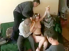 Banged By Their Filthy And Her Previous Dad Buddies