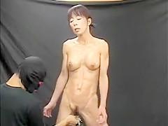 Busty Japanese milf with a splendid ass has a guy fingering