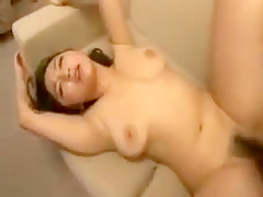 Buxom nympho gets her aching peach devoured and pounded by