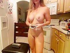 Cock hardening blonde babe gets naked to show her hot bod o