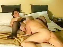 Dad and sexy grandmother possess a fuck