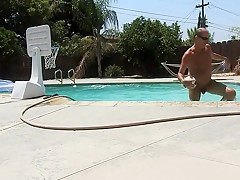Naked Pool Basketball.
