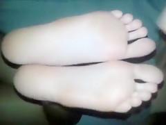 Naked girl feet soles