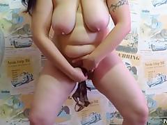 mature aunt peeing in her panties