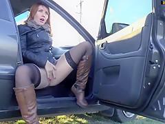 Women tied up naked in public