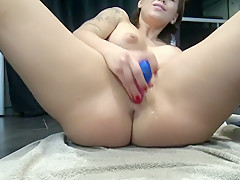Squirt with my new Ohmibod - Ejaculation avec mon nouveau sex toy by Vic A
