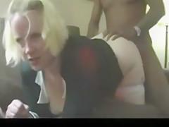 Blonde Blows Dude'S Big Black Dick