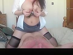 Big Natural Boobs Wife Lactating Strokes Penis