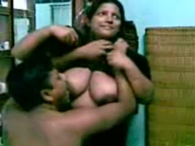 sucking aunties boob
