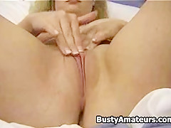 Busty Mariah Masturbating her hot pussy