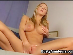 Busty Ryana on hot masturbation