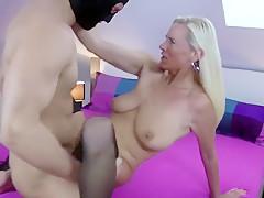 Hottest amateur Blonde, Stockings xxx movie