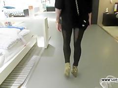 Stunning Amateur Blowjob at Ikea Store Public Cumshot Lucy Cat