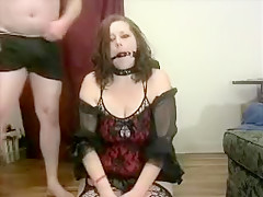 Redhead Sub Tied Up Gagged Spanked And Punished