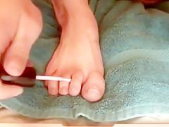 Lace Panties & Foot Massage