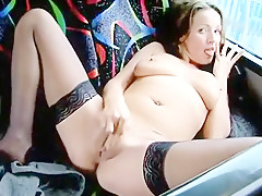 Slut Masturbates In A Bus