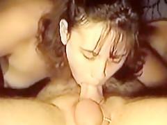 Hottest amateur Deep Throat, Brunette adult clip