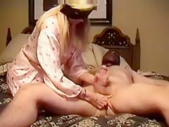 Fabulous homemade Handjob, Blonde porn clip