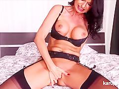 Ania Kinski Fingering Her Tight Pussy