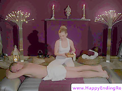 Beautiful masseuse doggystyled by her client