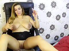 Crazy homemade Big Tits, Solo adult clip
