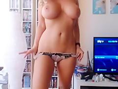 Fabulous amateur MILF, Solo sex scene
