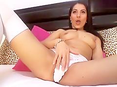 Amazing homemade Stockings, Webcam xxx scene