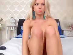 Fabulous amateur Webcam, Blonde xxx scene