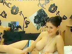 Fabulous homemade Big Tits, Brunette xxx video