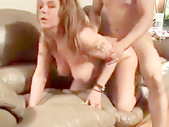 Horny amateur Brunette, Doggy Style adult video