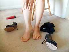 Exotic homemade Solo, Foot Fetish adult video