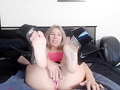Hottest amateur Blonde, Foot Fetish sex video