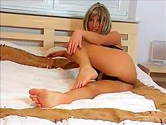 Hottest homemade Foot Fetish, MILF porn scene