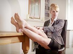 Crazy amateur Foot Fetish, Stockings xxx movie
