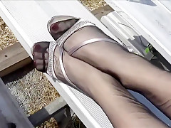 Amazing homemade Foot Fetish adult movie
