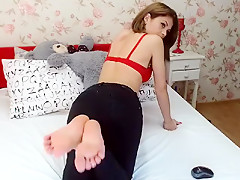 Incredible homemade Webcam, Foot Fetish adult clip