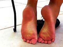 Crazy homemade Voyeur, Foot Fetish porn clip