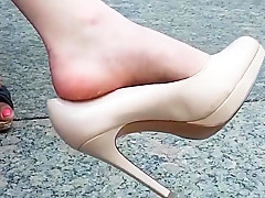 Incredible amateur Voyeur, Foot Fetish porn clip