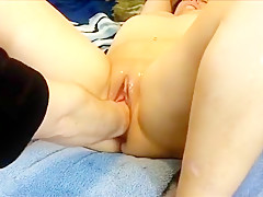 Fisting Her Gaping Hole
