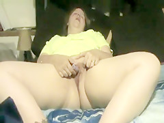 Blonde Wife Tortures Her Clit With Purple Bullet...