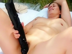 Amateur French Mature Sunbathing Nude And Mastur...