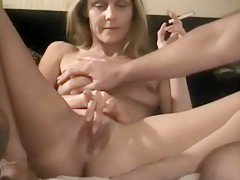 Wife Fingering A Friends Cum Out Of Her Pussy