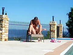 Fucking Sarah By The Pool Part 1